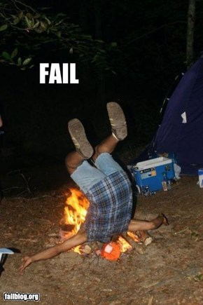 Fire Jumping FAIL