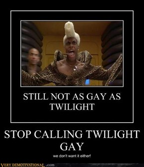 STOP CALLING TWILIGHT GAY