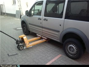 No car jack? Do it like a boss