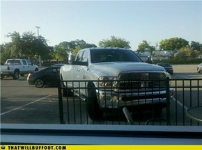 Douchebag Parkers: Too Much Truck for Just One Space