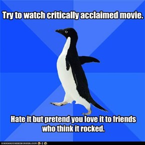 "Socially Awkward Penguin: ""Oh yeah, Jodie Foster was awesome!"""