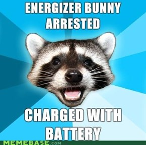 Lame Pun Coon: Now He's in a Duracell