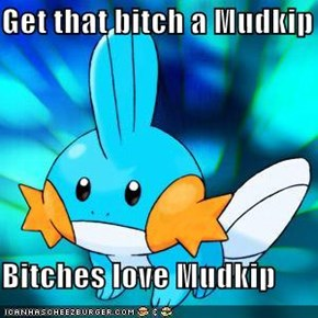 Get that bitch a Mudkip  Bitches love Mudkip
