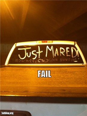 Just Married FAIL