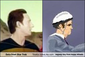 Data from Star Trek Totally Looks Like Segway Guy from Happy Wheels