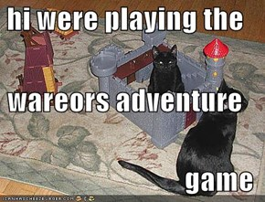 hi were playing the  wareors adventure  game