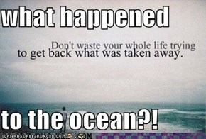 what happened  to the ocean?!