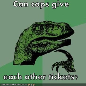Can cops give  each other tickets?