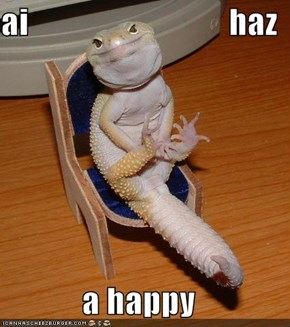 ai                              haz  a happy