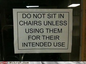 Chairs: What Are They Used For, Really?