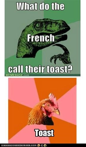Repost: What do the French call their toast?