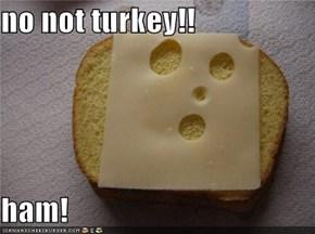 no not turkey!!  ham!