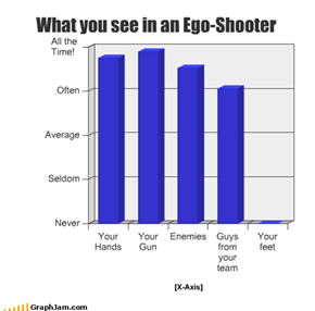What you see in an Ego-Shooter