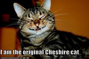 I am the original Cheshire cat