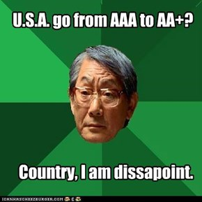 U.S.A. go from AAA to AA+?