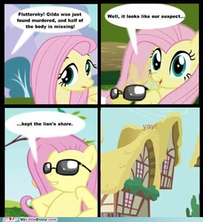 Does that mean they're giving Fluttershy the bird?