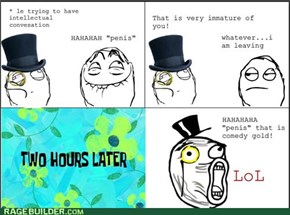 Being immature we all do it