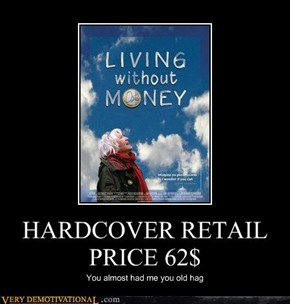 HARDCOVER RETAIL PRICE 62$