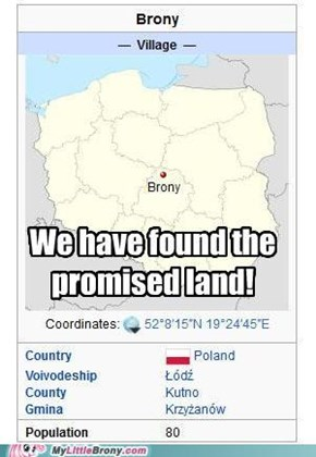 Poland is close to Equestria, right?