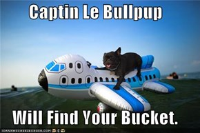 Captin Le Bullpup  Will Find Your Bucket.