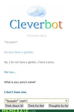 Cleverbot is still an idiot.