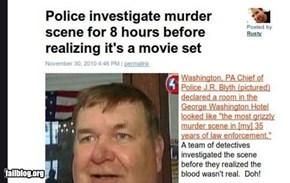 Crime scene FAIL