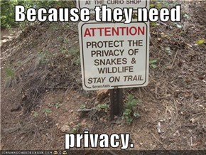 Because they need  privacy.