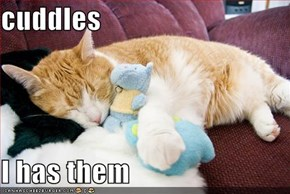 cuddles  I has them