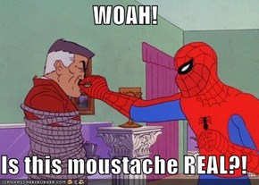 WOAH!  Is this moustache REAL?!