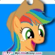 the lovely child of applejack and rainbow dash