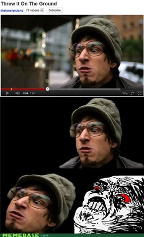 Cannot Be Unseen: Hipster Andy = Rage Face