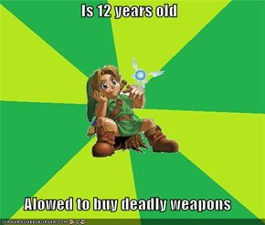 Is 12 years old  Alowed to buy deadly weapons