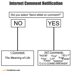 Internet Comment Notification