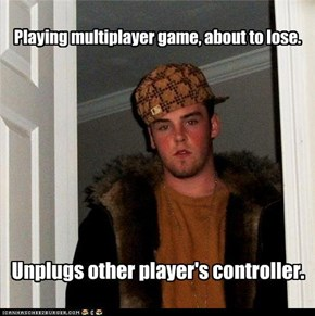 Playing multiplayer game, about to lose.