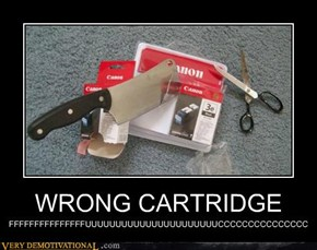 WRONG CARTRIDGE