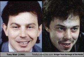 "Tony Blair (1986) Totally Looks Like Booger From ""Revenge of the Nerds"" (Curtis Armstrong)"