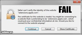 Apple Certificate FAIL