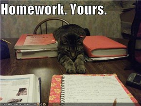Homework. Yours.