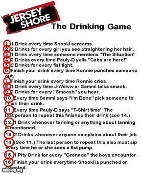 The Jersey Shore Drinking Game
