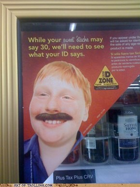 Please, Like a Ginger Would Have a Brown 'Stache