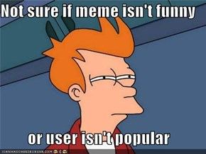 Not sure if meme isn't funny  or user isn't popular