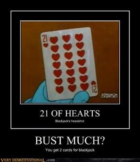 BUST MUCH?