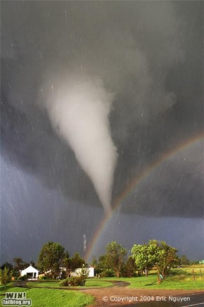 Mother Nature FTW: Rainbow Tornado