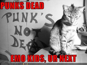 PUNKS DEAD        EMO KIDS, UR NEXT