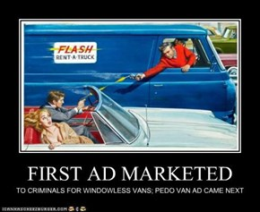 FIRST AD MARKETED