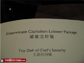 First the Lobster Package, then THE WORLD!