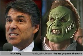 Rick Perry Totally Looks Like Dorian Tyrell from The Mask