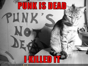 PUNK IS DEAD  I KILLED IT