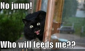 No jump!  Who will feeds me??