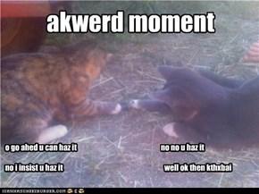 akwerd moment